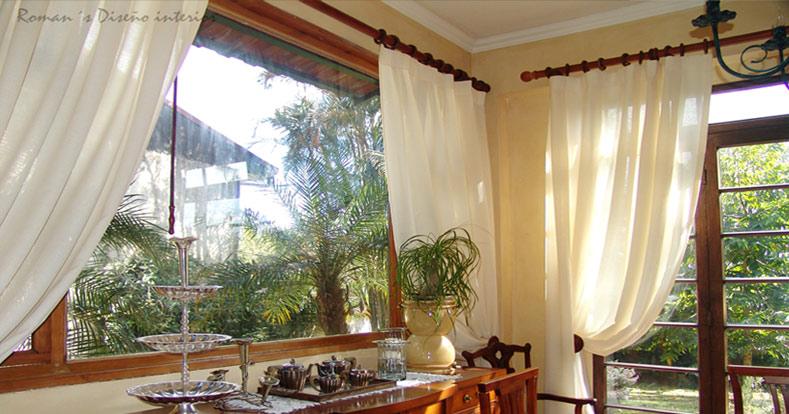 asesoria diseno confeccion cortinas romans diseno interior
